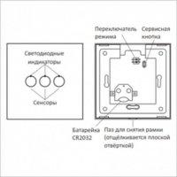 Пульт-радиопередатчик универсальный сенсорный PG211 белый беспроводной выключатель