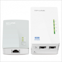 Комплект адаптеров TP-LINK TL-WPA4220KIT Wireless Powerline 802.11n/300 Mbps